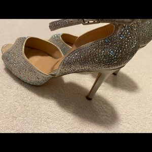 Gently Worn Gorgeous Sparkly Heels By CATHY JEAN